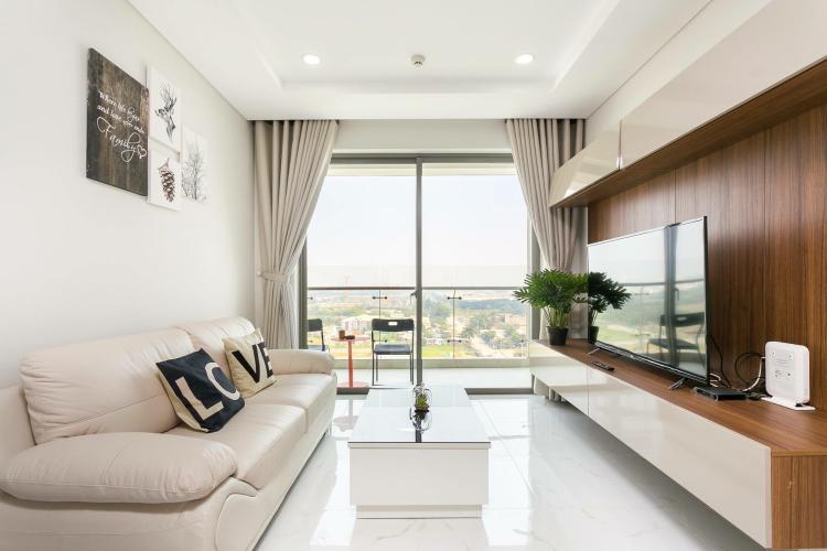 phòng khách căn hộ 3 phòng ngủ an gia riverside Căn hộ An Gia Riverside tầng trung, view thành phố sầm uất.