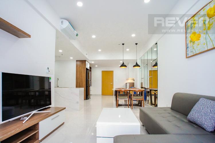 Phòng Khách Cho thuê căn hộ Scenic Valley 77m2 2PN 2WC, nội thất tiện nghi, view đường phố