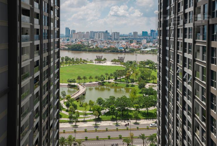 View Căn hộ Vinhomes Central Park 3 phòng ngủ tầng trung P6 view công viên
