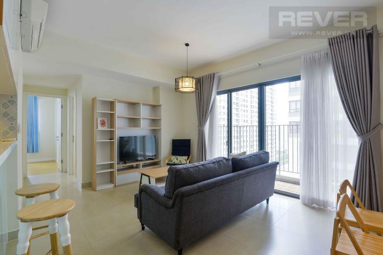 Phòng Khách Cho thuê căn hộ Masteri Thảo Điền 2PN, tầng cao, tháp T4, đầy đủ nội thất, view Xa lộ Hà Nội