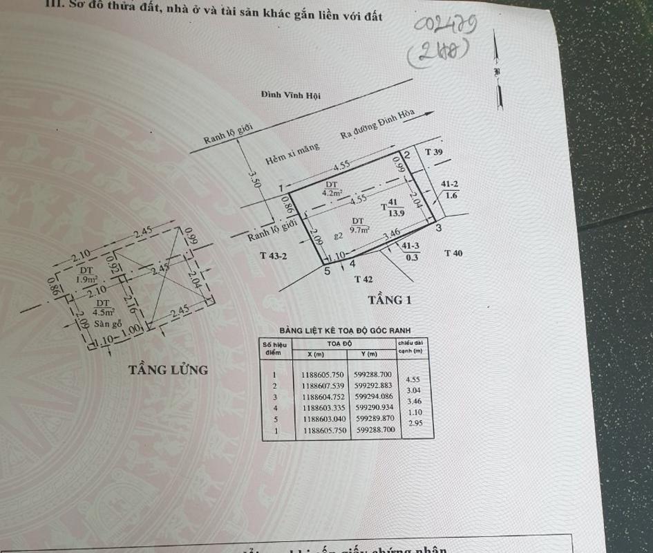 Bản vẻ nhà phố Quận 8 Nhà phố Đinh Hòa quận 8 hướng Đông Nam, pháp lý rõ ràng sổ hồng đầy đủ.