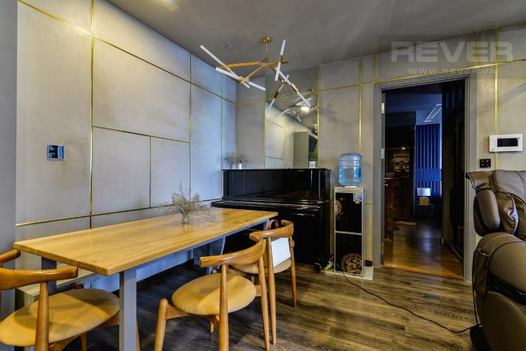 Phòng Ăn Căn hộ Vinhomes Central Park 2PN đầy đủ nội thất, view sông Sài Gòn