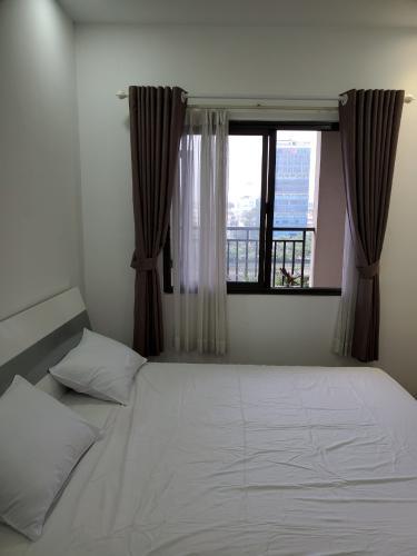 Phòng ngủ căn hộ Icon 56, Quận 4 Căn hộ chung cư Icon-56 đầy đủ nội thất, view thành phố sầm uất.
