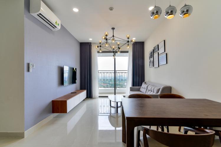 Cho thuê căn hộ Saigon Royal 2PN, tầng cao, tháp A, đầy đủ nội thất, view sông Sài Gòn và tháp Bitexco