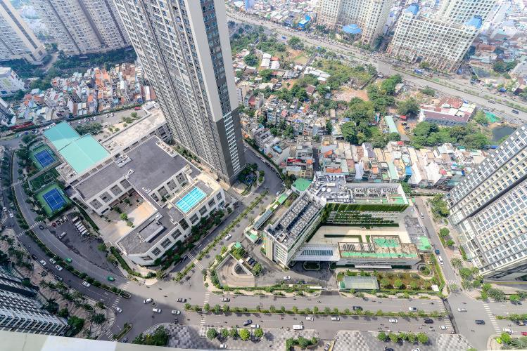 View Căn hộ Vinhomes Central Park tầng cao, 1PN đầy đủ nội thất