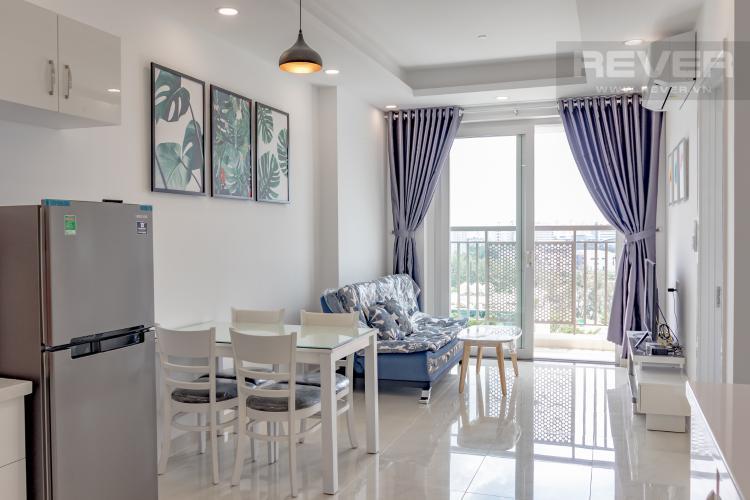 Phòng Khách Cho thuê căn hộ Saigon Mia 2PN, tầng thấp, đầy đủ nội thất, view khu dân cư