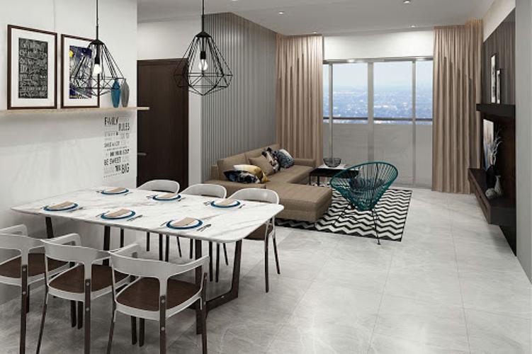 Căn hộ Sadora Apartment ban công view thành phố xanh thoáng mát.