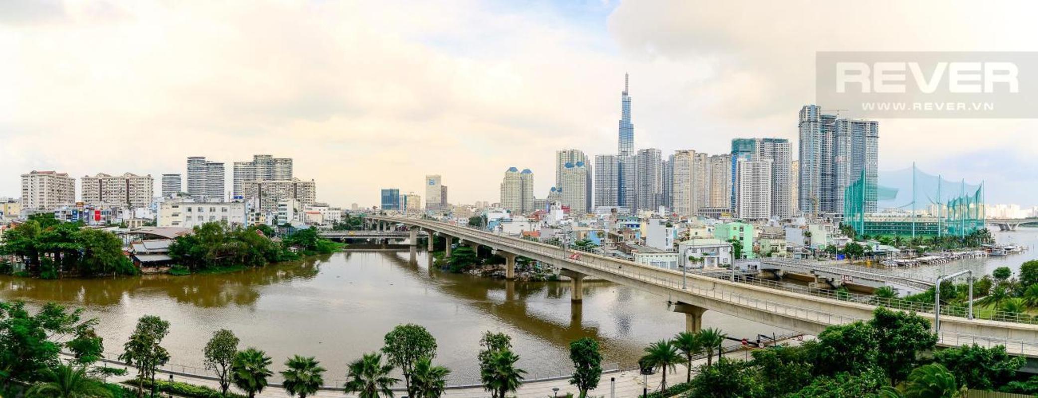 view Cho thuê căn hộ Vinhomes Golden River 1PN, diện tích 44m2, đầy đủ nội thất, view sông và Landmark 81