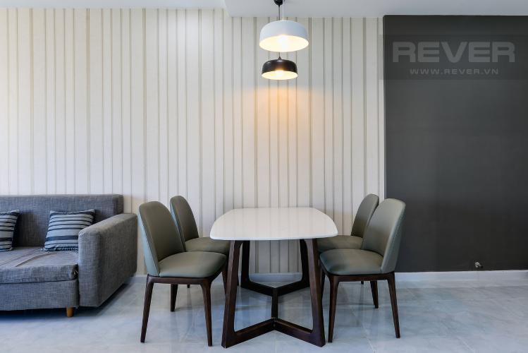 Phòng Ăn Cho thuê căn hộ De Capella 3PN, tầng cao, đầy đủ nội thất, hướng Đông Bắc đón gió