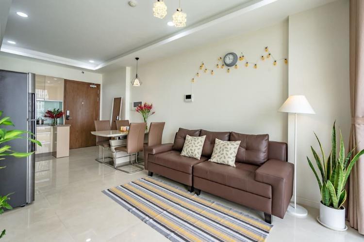 Phòng khách Masteri Millennium Quận 4 Căn hộ tầng trung Masteri Millennium, view Quận 1.
