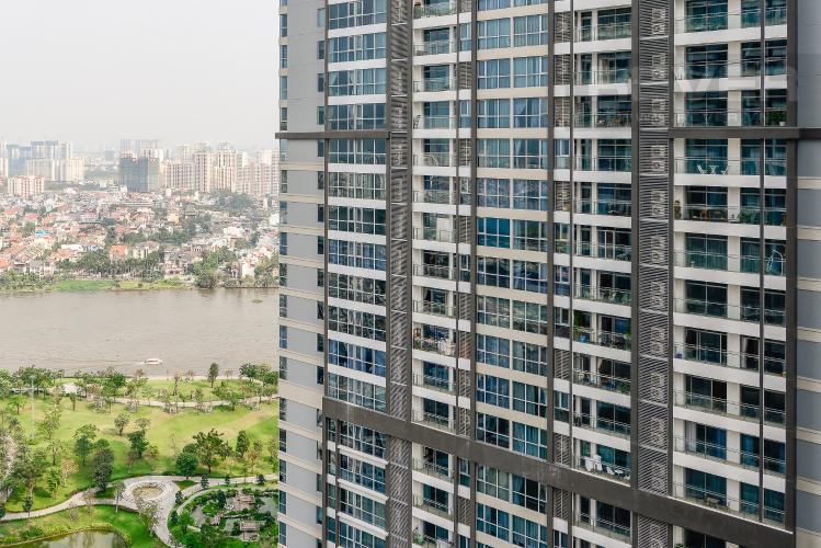 View Căn hộ Vinhomes Central Park 2 phòng ngủ tầng cao L1 view sông