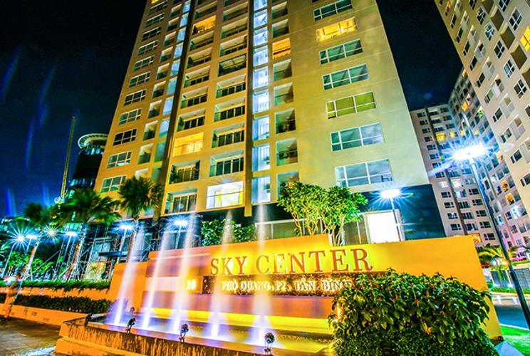 Toà nhà Sky Center Phổ Quang Căn hộ Officetel Sky Center view nội khu, hướng Bắc.