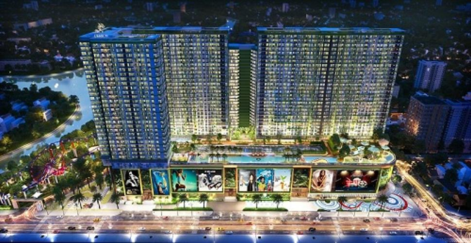 Phối cảnh dự án Topaz Elite Căn hộ tầng trung Topaz Elite với view thành phố sầm uất.