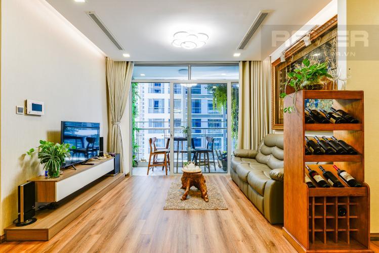 Phòng khách Căn hộ Vinhomes Central Park 2 phòng ngủ tầng thấp P3 hướng Bắc