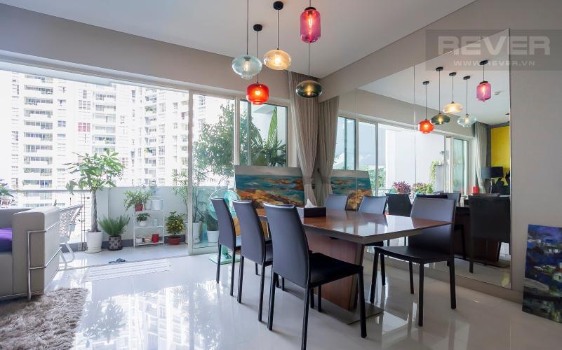 Bàn Ăn Căn hộ Estella Residence 3 phòng ngủ tầng thấp view hồ bơi