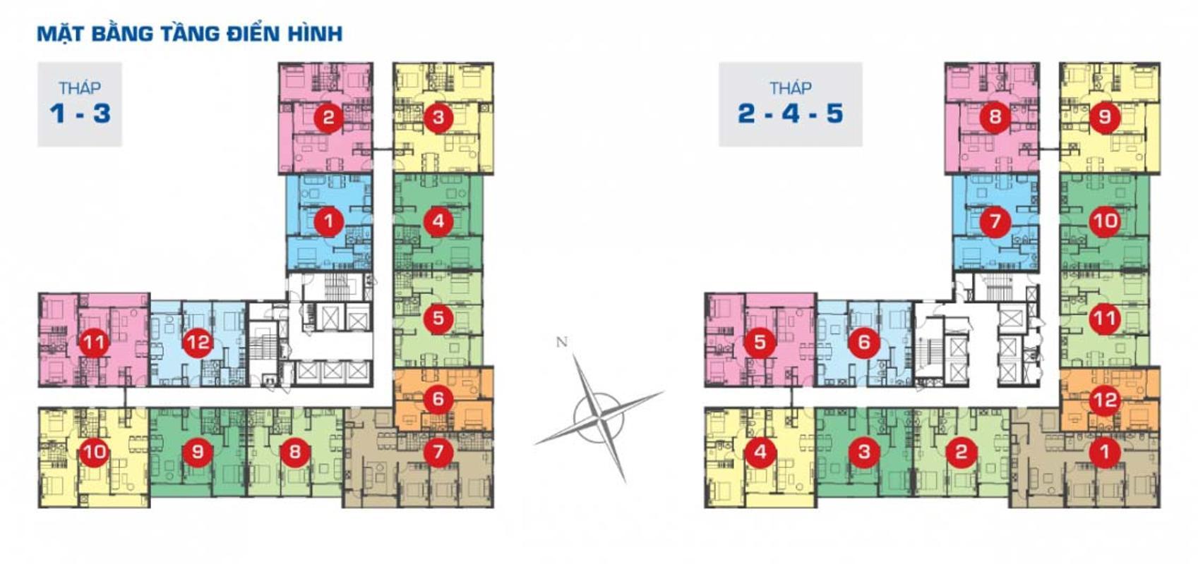 mat-bang-can-ho-the-sun-avenue00006-e1541560881759 Cho thuê căn hộ The Sun Avenue 1 phòng ngủ, block 3, diện tích 55m2