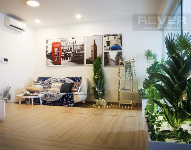 Phòng Khách Bán căn hộ Icon 56 1 phòng ngủ, tầng thấp, đầy đủ nội thất, view kênh Bến Nghé