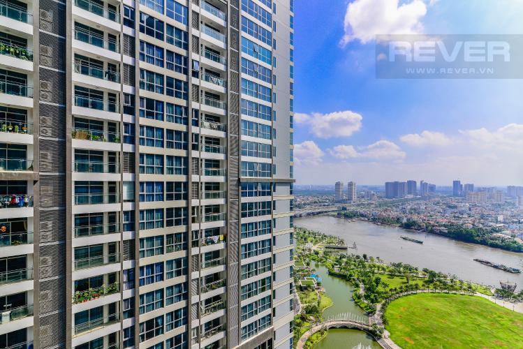 View Căn hộ Vinhomes Central Park 2 phòng ngủ tầng cao P4 nội thất đầy đủ