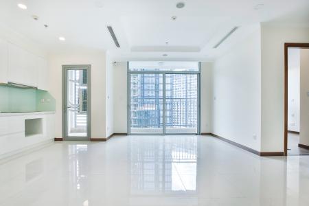 Căn hộ Vinhomes Central Park 3 phòng ngủ tầng cao L6 nhà trống