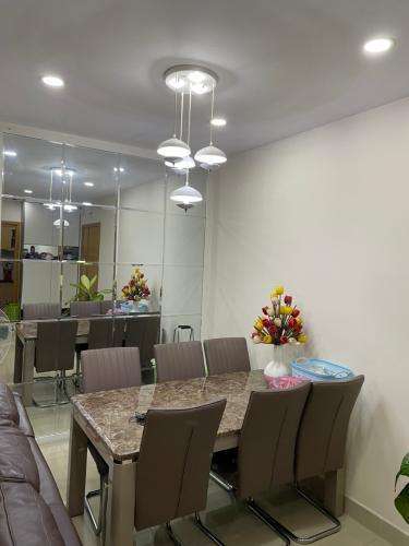 Phòng bếp căn hộ Him Lam Chợ Lớn, Quận 6 Căn hộ Him Lam Chợ Lớn hướng Đông Nam, view thành phố tầng cao.