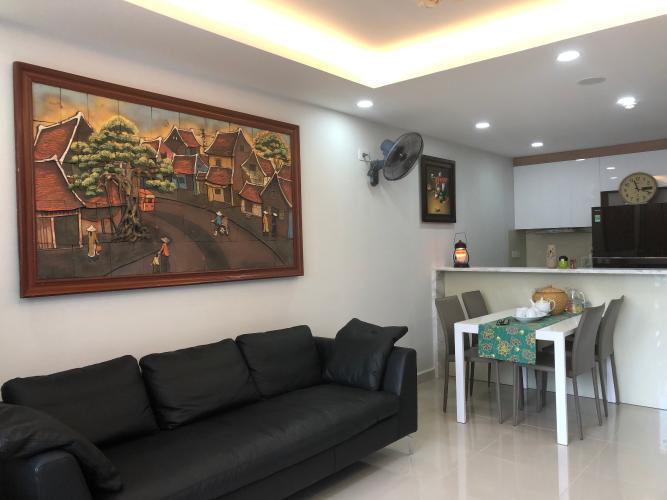 Phòng khách căn hộ The Tresor Căn hộ The Tresor thiết kế hiện đại, view sông thoáng mát