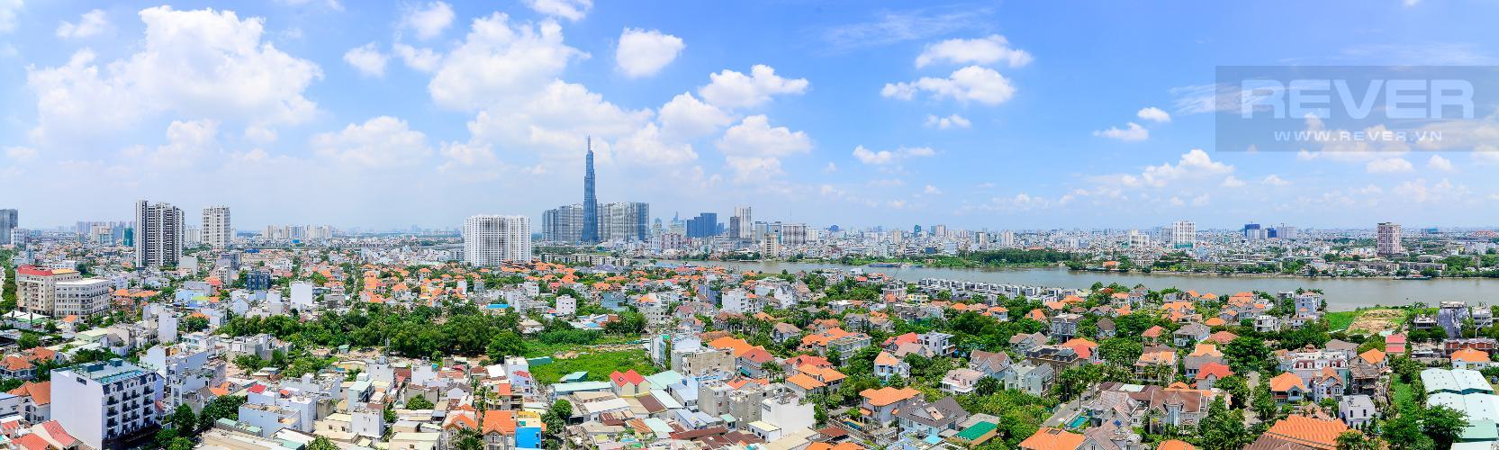 View Bán căn hộ Tropic Garden 2PN, đầy đủ nội thất, view sông Sài Gòn và Landmark 81