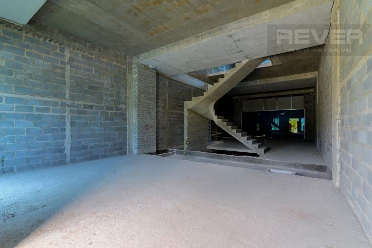 Mặt Bằng Tầng 2 Cho thuê văn phòng 2 tầng Thủ Thiêm Lakeview 5PN, mặt tiền đường Ven Hồ Trung Tâm, hoàn thiện mặt ngoài