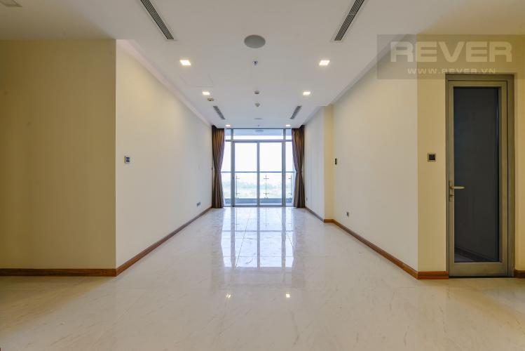 phòng khách Căn hộ Vinhomes Central Park tầng cao Park 6 nội thất cơ bản, view sông