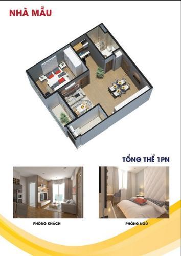 Căn hộ City Gate 3 nội thất cơ bản 1 phòng ngủ, ban công hướng Đông.