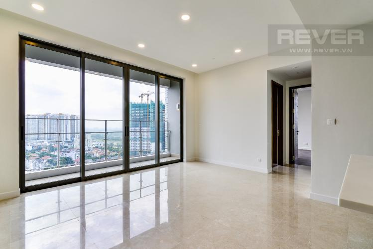 Phòng Khách Căn hộ Nassim Thảo Điền tầng cao, tháp A, 2 phòng ngủ, view sông