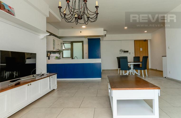 Phòng Khách Căn hộ The View Riviera Point tầng cao, tháp T3, 2 phòng ngủ, full nội thất