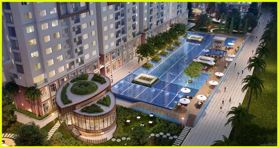 The Park Residence, Nhà Bè Căn hộ The Park Residence tầng thấp, ban công hướng Đông Nam.
