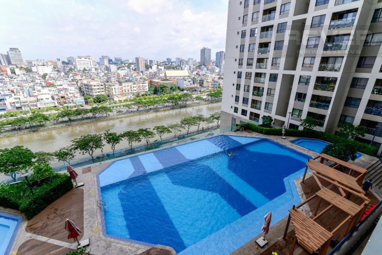 View Bán căn hộ The Gold View 2PN, tháp A, đầy đủ nội thất, hướng Đông Bắc, view hồ bơi và kênh Bến Nghé