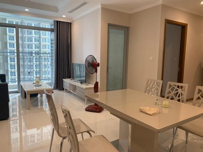 Phòng ăn căn hộ Vinhomes Central Park Cho thuê căn hộ Vinhomes Central Park 2PN, tháp Landmark 4, diện tích 77m2, đầy đủ nội thất