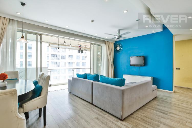 Phòng Khách Căn hộ The Estella Residence 2 phòng ngủ tầng cao 4B hướng Bắc