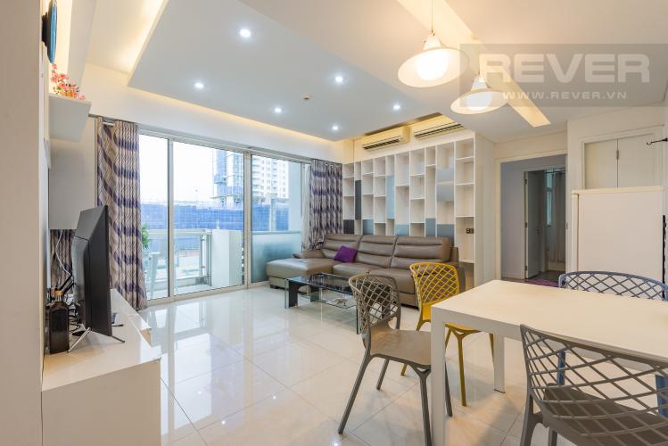 Phòng khách Căn hộ The Estella Residence 2 phòng ngủ tầng thấp 3B hướng Bắc