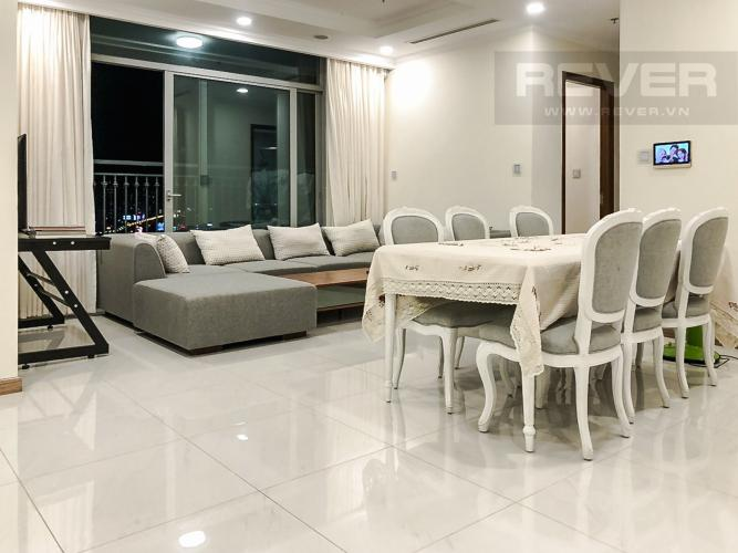 Phòng Khách Cho thuê căn hộ Vinhomes Central Park 2PN 2WC, đầy đủ nội thất, view thành phố