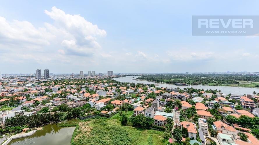 View toàn cảnh nhìn từ căn hộ Căn hộ Masteri Thảo Điền tầng cao tháp T4A view sông thoáng mát