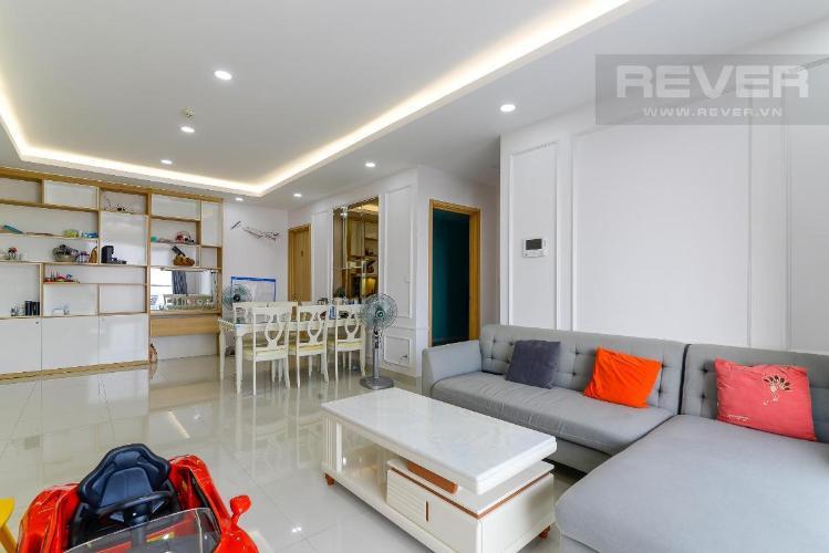Cho thuê căn hộ The Gold View 3 phòng ngủ, tầng cao, diện tích 117m2, đầy đủ nội thất