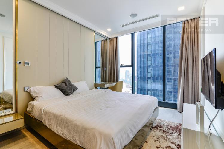 Phòng Ngủ Officetel Vinhomes Golden River tầng trung, tháp Aqua 1 hướng Tây Nam