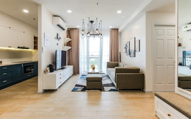 Căn hộ Happy Residence 2 phòng ngủ tầng trung tháp B nội thất đầy đủ