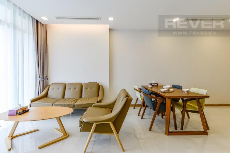 Phòng khách Căn hộ Vinhomes Central Park 2 phòng ngủ tầng trung P7 nội thất đầy đủ