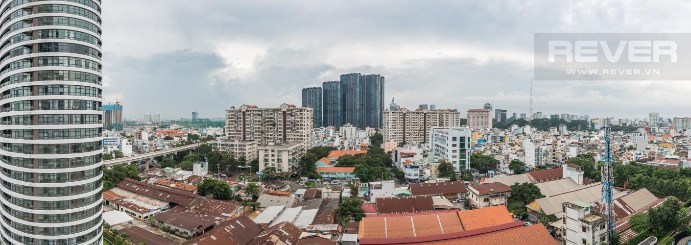 View Cho thuê căn hộ City Garden tầng trung, 1PN, đầy đủ nội thất
