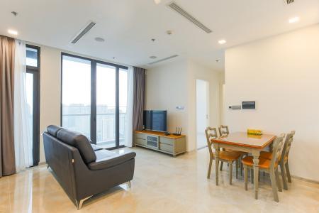 Officetel Vinhomes Golden River 2 phòng ngủ tầng cao A3 đầy đủ nội thất