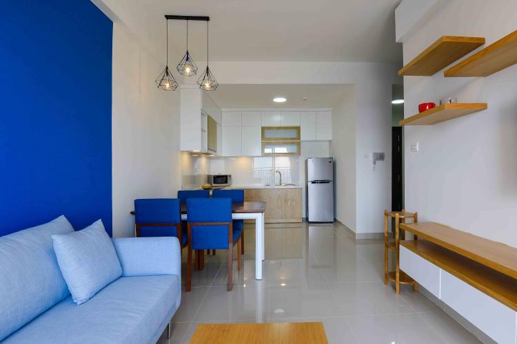Phòng Khách Cho thuê căn hộ The Sun Avenue 2 phòng ngủ, đầy đủ nội thất, view sông Sài Gòn