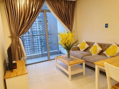 Cho thuê căn hộ Vinhomes Central Park tầng trung, tháp Landmark 6, diện tích 48m2 - 1 phòng ngủ, đầy đủ nội thất