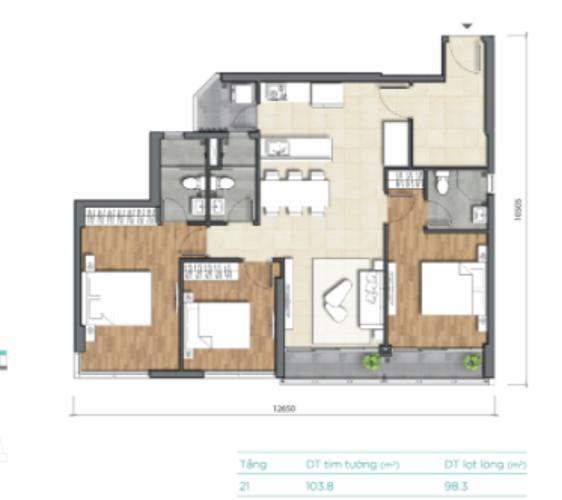 Căn hộ D'Lusso tầng cao thiết kế kỹ lưỡng, bàn giao nội thất cơ bản.