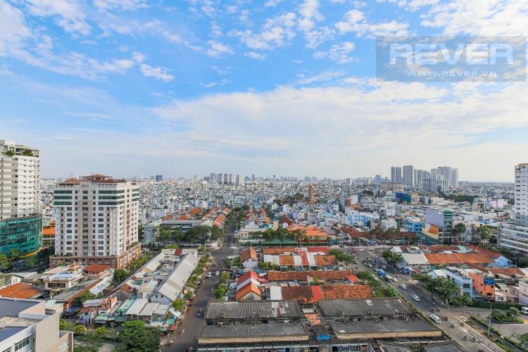 View Cho thuê căn hộ Masteri Millennium tầng trung, 2PN, nội thất đầy đủ