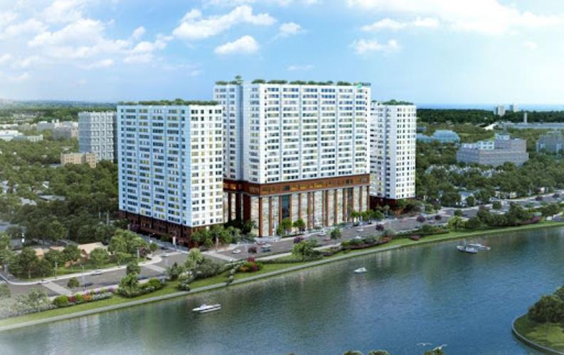Chung cư Green River, Quận 8 Căn hộ tầng 17 chung cư Green River view nội khu thoáng mát.