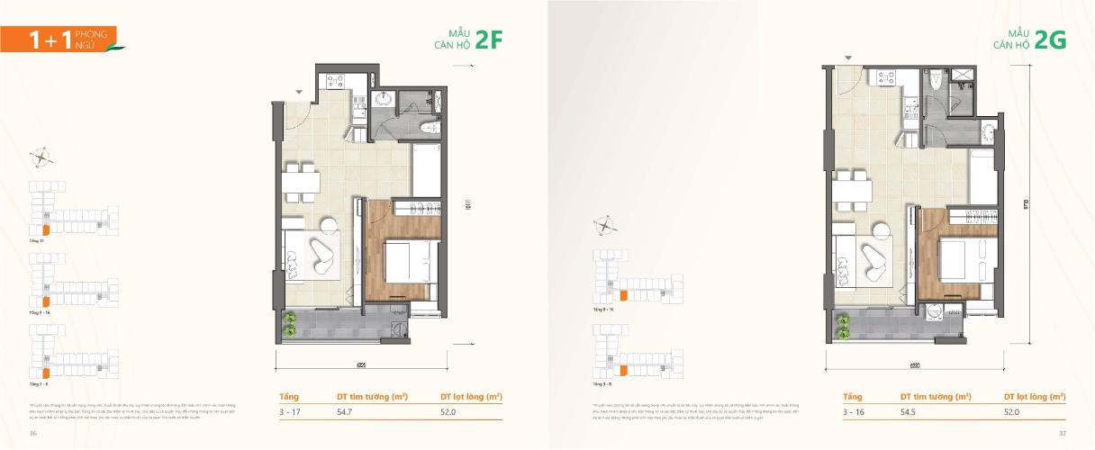 Căn hộ Ricca tầng 7 ban công thoáng mát, nội thất cơ bản hiện đại.